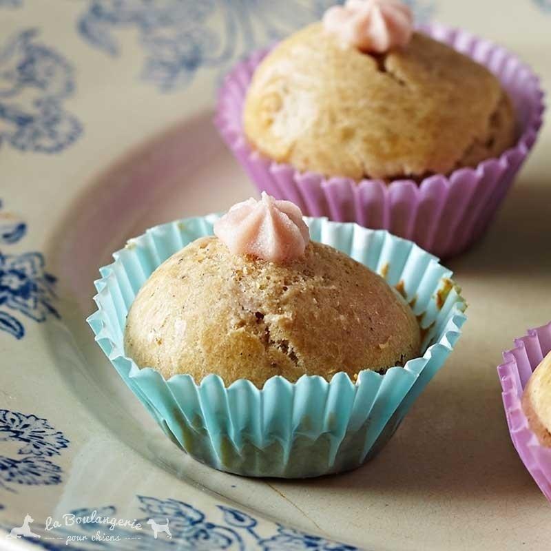 mini cup cakes pour chiens vanille bio la boulangerie pour chiens pour nos animaux. Black Bedroom Furniture Sets. Home Design Ideas