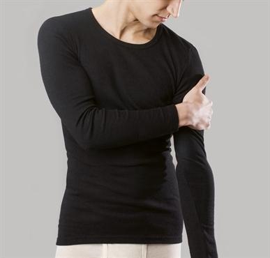 homme tricot de peau laine et soie manches longues noir comptoir biosud lingerie bio mode bio. Black Bedroom Furniture Sets. Home Design Ideas