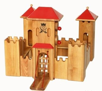 Grand chateau fort en bois massif m mes eco 39 mpagnie jeux et jouets en - Chateau fort en bois ...